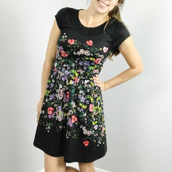 Lc Lauren Conrad Dresses Lauren Conrad Black Floral Dress Poshmark